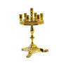 Another view of the beeswax candle holder for your home worship chapel.