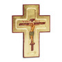 Intricate details abound in this stunning cross! Handpainted in Greece another Legacy Icons find. Wooden cross features painting of our Lord subset in the cross as a traditional icon (kovcheg) A gold tone paint illuminates the background as your heart is also illumined.   A treasure for you and friends and family you love. Buy one for your priest, deacon or relative.