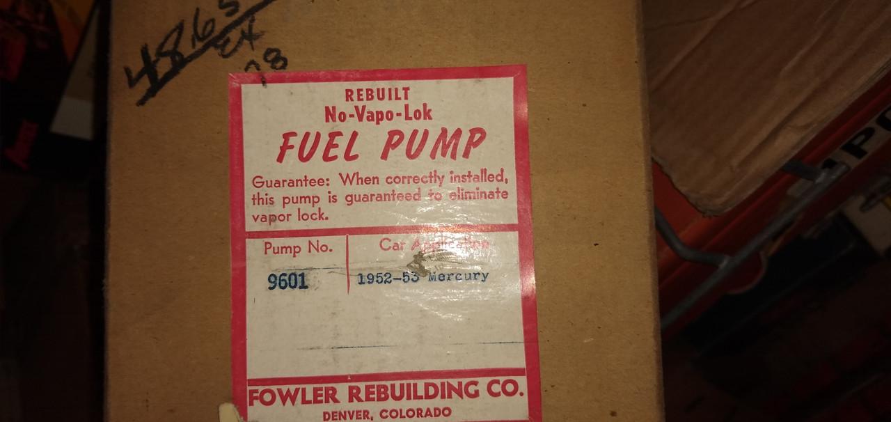 Mercury 1952-53 Rebuilt Fuel Pump P/N 9601