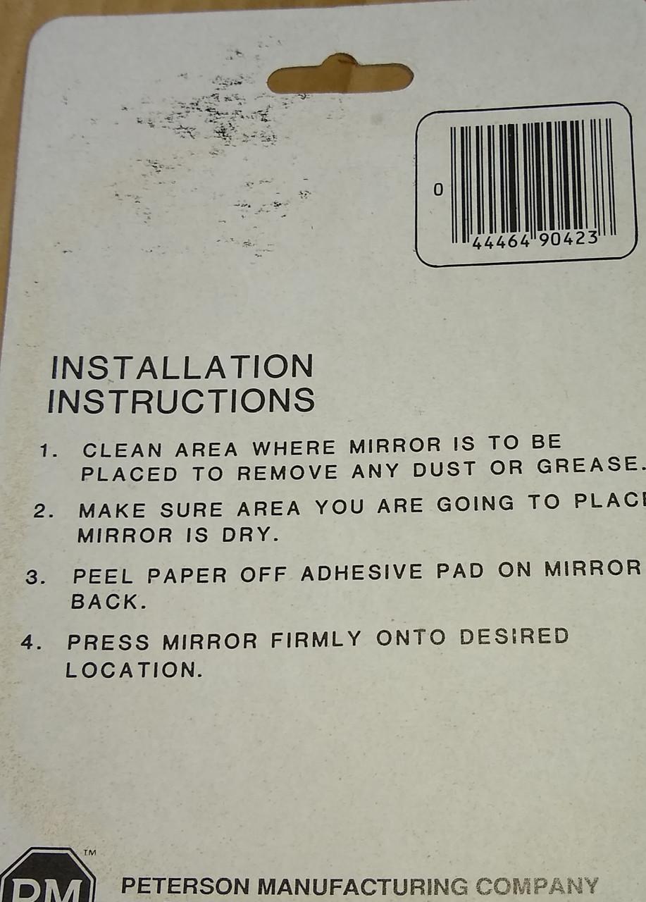 Convex Mirror with Adhesive Back Part No.:  V602