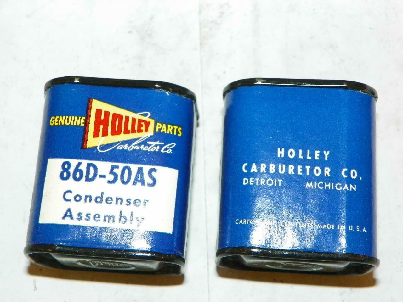 NOS Holley Condensers 2 Each Great Advertising Boxed Each Ford 1952-57 86d-50as