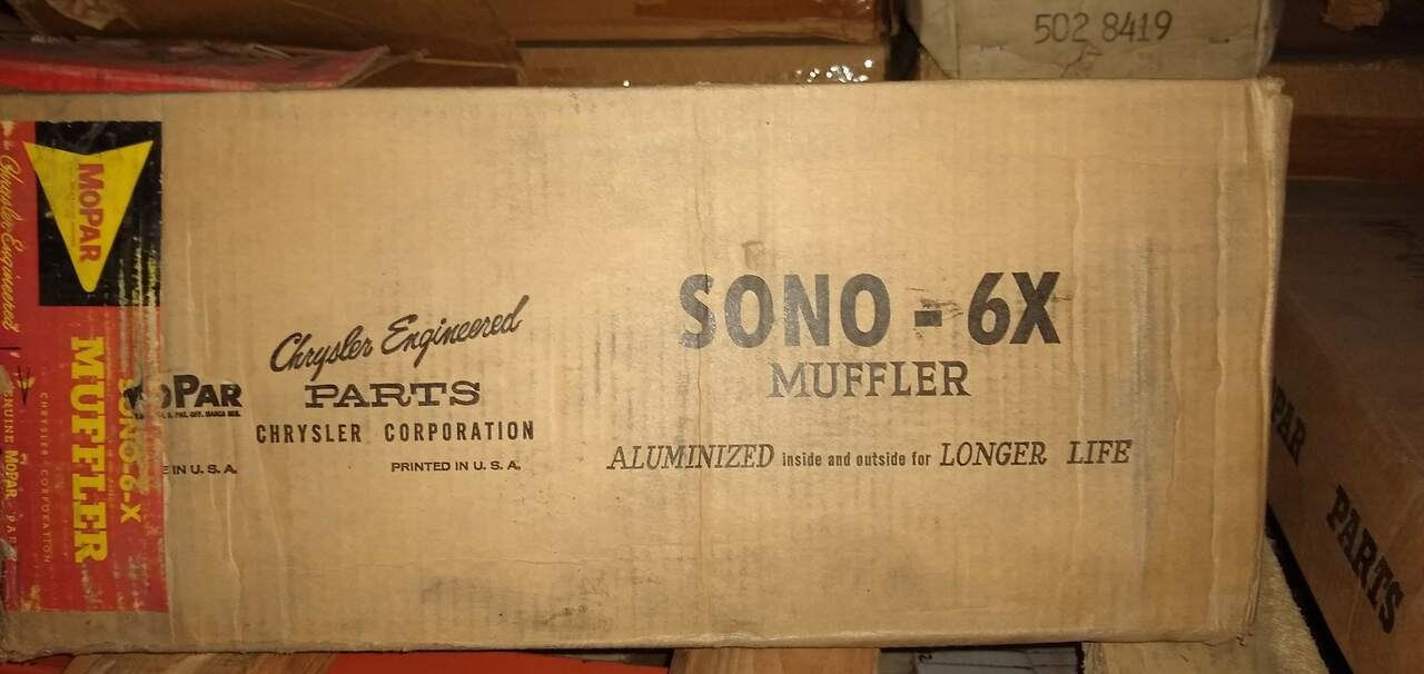 Mopar Plymouth 1959 Sono 6-X Muffler Made in the USA! Part No.:  1948298