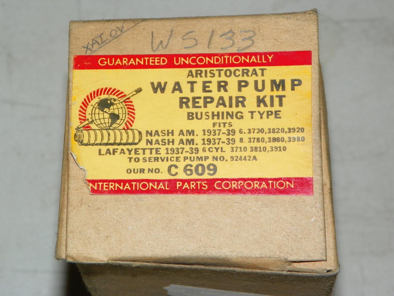 Nash 1937-1939 Universal Guaranteed Water Pump Repair Kit Part No.:  C609