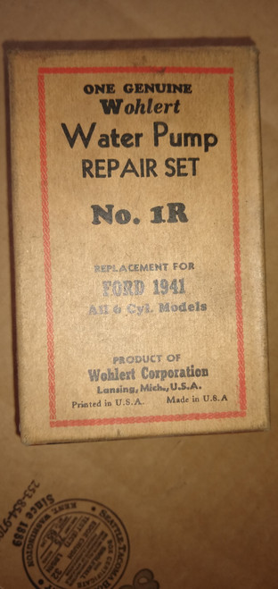Ford 1941 6 Cyl. Wohlert Water Pump Repair Kit P/N 1R