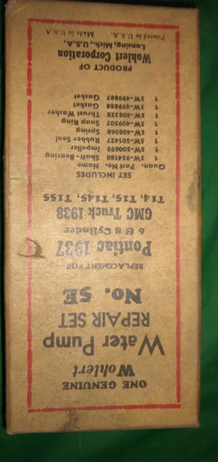 Pontiac 1937 GMC Truck 1938 Wohlert Water Pump Repair Kit Part No.:  5E