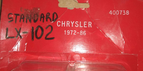 Chrysler 1972-1986 (Standard LX-102) Distributor Pickup Part No.:  400738