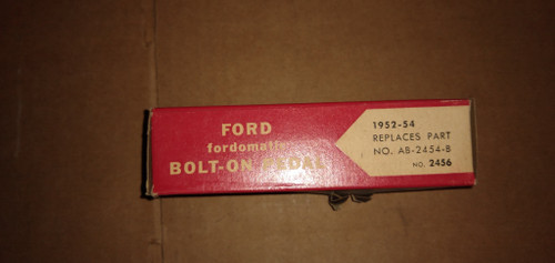 Ford 1952-1954 Bolt-On Pedal (AB-2454-B):  Part No.:  2456