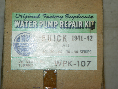 Buick 1941 1942 AMCO Water Pump Repair Kit Part No.:  WPK107