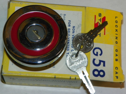1959 Ford Edsel Corsair Citation Ranger NOS Stant Locking Gas Cap: G-58