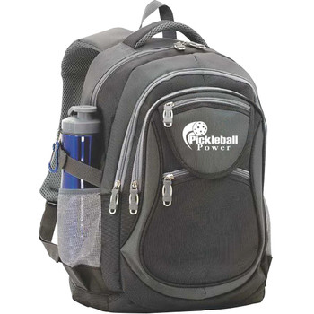 Enjoy excellent organization of all your Pickleball items with this great versatile sport backpack. The bag has FOUR zippered storage areas on the front with two easy-access zipper pockets and a tri-compartment design.