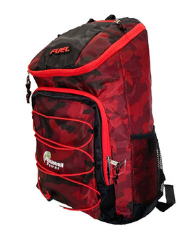 "Fuel ""TopLoader"" Sport Backpack For Pickleball - w/ Front Bungee - New – Red Camo"