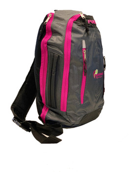 Active Crossbody Backpack – Graphite w/ Magenta Trim. Perfect for Pickleball!