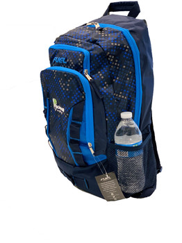 "Pickleball ""Colorways"" Durable Backpack - Will hold multiple Pickleball paddles and sports gear. Navy & Royal Blue Hexagon"