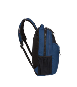 """(Closeout Special) Swiss Tech """"Appenzell"""" Backpack - 5 Zipper Pockets - Will hold multiple Pickleball paddles and sports gear. Navy Blue"""