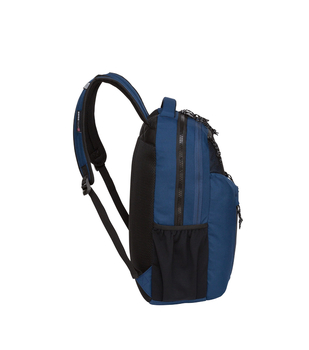 """Swiss Tech """"Appenzell"""" Backpack - 5 Zipper Pockets - Will hold multiple Pickleball paddles and sports gear. Navy Blue"""