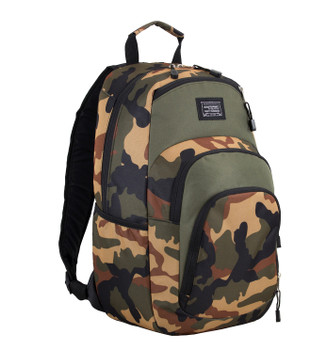"(Closeout Special) Eastport ""Sport Tier"" Backpack - Multi-Compartment Storage - Will hold multiple Pickleball paddles and sports gear. CAMO"