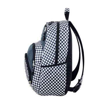 "Eastport ""Sport Tier"" Backpack - Multi-Compartment Storage - Will hold multiple Pickleball paddles and sports gear. Checkered Pattern"