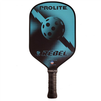 The Rebel PowerSpin Composite Paddle will set you apart on the court with its style and high-performing features.