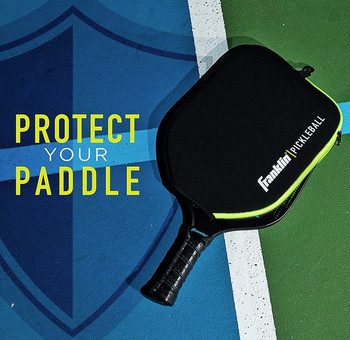 Franklin Sports - Individual Pickleball Paddle Cover - Black/Lime Green