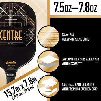 FRANKLIN - Aspen Kern Centre Signature Pickleball Paddle  - 13mm - (FREE GIFT WITH PURCHASE!)