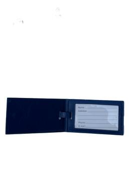 Elegant Faux Leather Folding Luggage/Sports/ ID Tags - Set of 2 - w/ Magnetic Closure