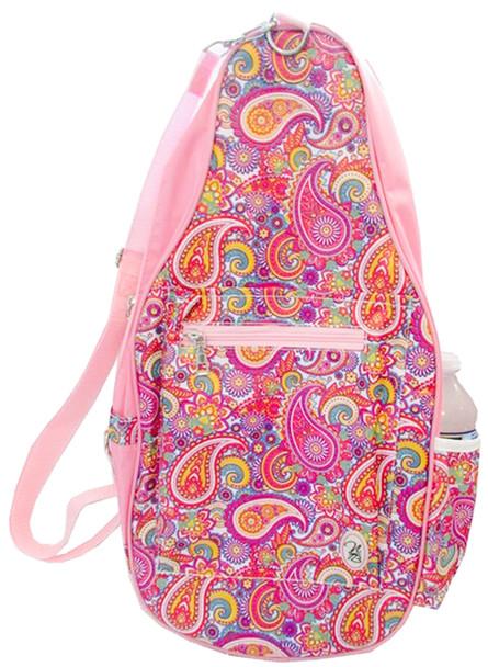Ladies Printed Pickleball Sling Bag - Ainsley (Lt. Pink Paisley) - New | Designed Expressly for Pickleball