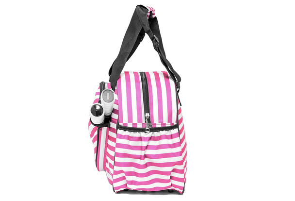 Pink & White Striped Women's Duffle Bag | Made Exclusively For Pickleball!