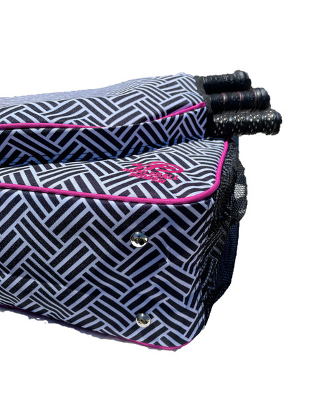 "Pickleball - ""Unrivaled"" - Designer Women's Side-Pocket Duffle Bag | Made Exclusively For Pickleball!"