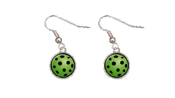 Pickleball Custom Designed Earrings w/ Multi-Color Pickleball