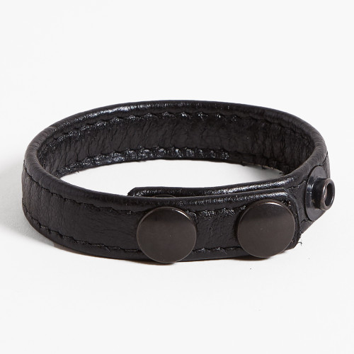 3-snap Leather Cockring