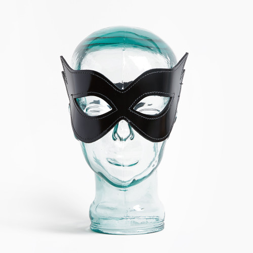 Patent Leather Cat Mask