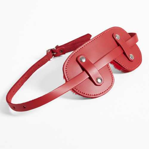 Patent Leather Blindfold with Fleece