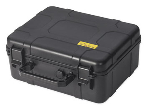 40 Ct. (Black) Plastic Travel Humidor Water & Crush Resistant  Rugged Structure Water & Crush Resistant Pressure Lock-Air Release Knob 4 Protective Foam Cigar Beds Snap Tight Clips Lock Lid in Place Carrying Handle Large Humidifier