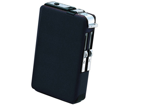 Cigarette Case with Built-In Lighter (2 Style Flames)  Cigarette Case w/ Built-In Lighter Finish: Navy Holds 10 King Cigarettes Standard & Torch Flames Push Button Releases Cigarette Compact Size Fits in Pocket