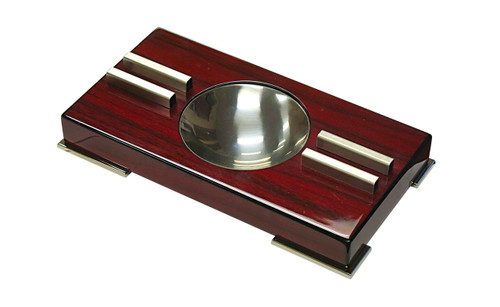 "High Gloss Contemporary Art Deco Ashtray on Polished Feet 9 1/4"" W x 5"" D x 1 2/3"" H"