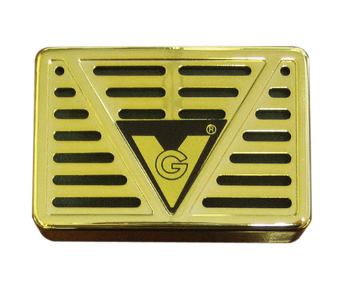 """Humidifier 3"""" x 2"""" Rectangle (Gold or Black)  Maintains 100 Cigars Dimensions: 3"""" x 2"""" x 3/4"""" Thick