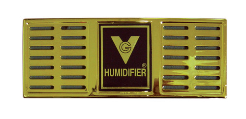 """Humidifier 6-1/2"""" x 2-1/2"""" Rectangle (Gold or Black)  Gold or Black Finish  Maintains 250 Cigars Dimensions 6 1/2"""" x 2 1/2"""" Thick"""