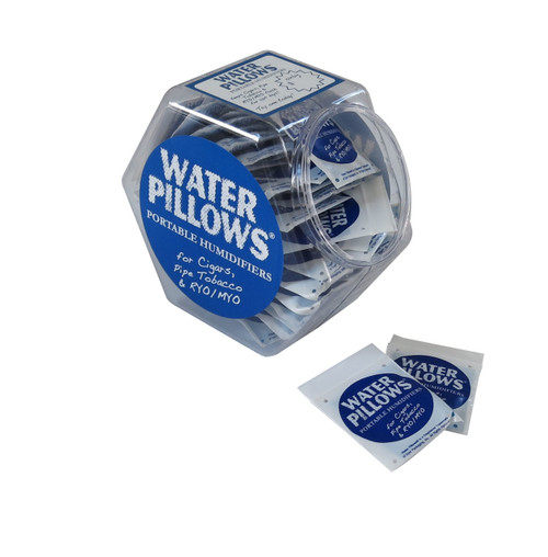 Water Pillow Humidifier Point-of-Sale Counter Display of 75  Counter Display 1 Pillow Per 5-10 Cigars Pre-Charged with Distilled Water 75 Ventilated Zip Lock Pouches Works Great in Zip Lock Cigar Bags