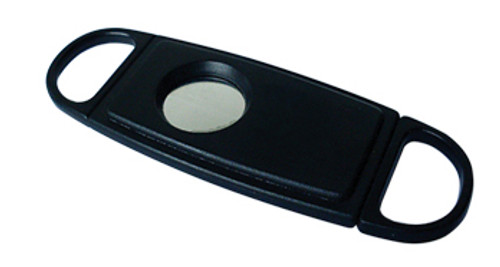 Guillotine Cutter - Single Blade - Plastic (54 Ring Gauge)  Single Blade Black Guillotine Cutter Single Item