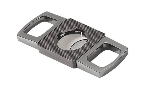 Gun Metal Precision Made Guillotine with Etched Body in Gift Box (62 Ring)  Precision Made Gun Metal Finish Exceptional Operation Solid Weight & Feel Etched Center Body Gift Box