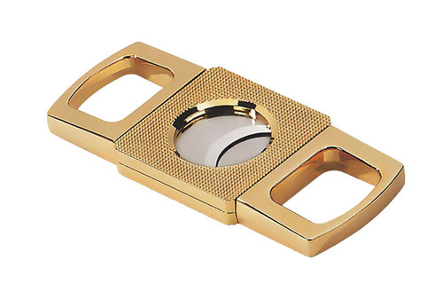 Gold Precision Made Guillotine with Etched Body in Gift Box (62 Ring)  Precision Made Gold Finish Exceptional Operation Solid Weight & Feel Etched Center Body Gift Box