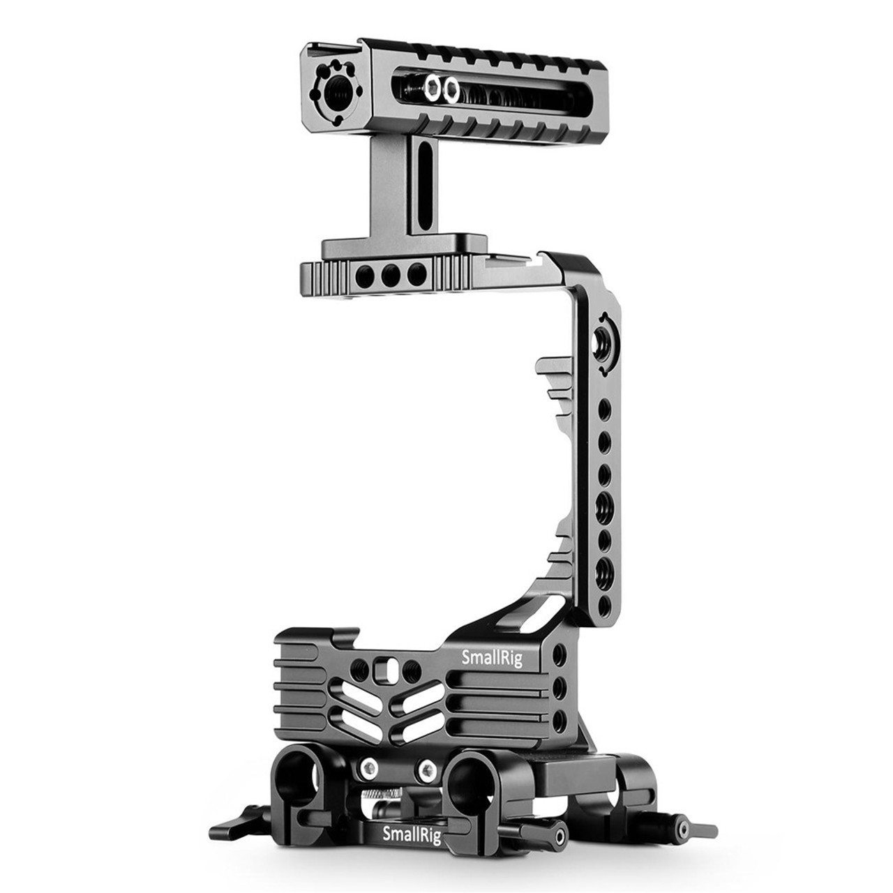 SmallRig Baseplate with Dual 15mm Rod Clamp //rubber cushions for Run and Gun