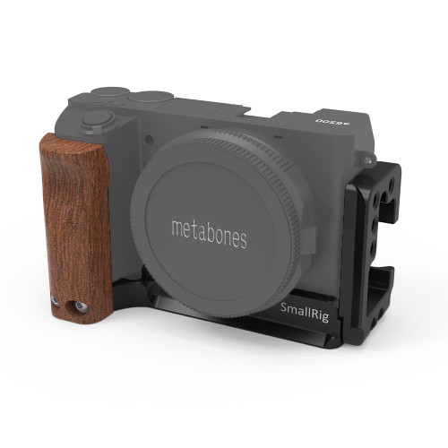 SmallRig Quick Release L Bracket with Wooden Grip for Sony A6500 2074