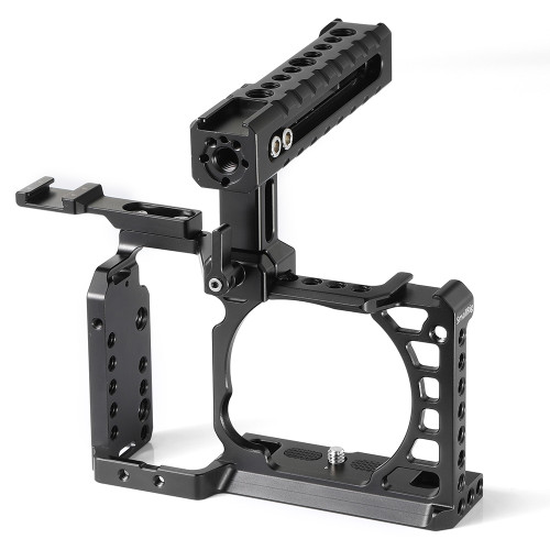 SmallRig Professional Cage Kit with NATO Rail Handle for Sony A6500 2081