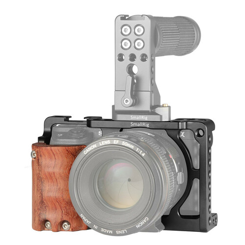 SmallRig Advanced Cage Kit with Wooden Handgrip for Sony A6000/A6300 2082