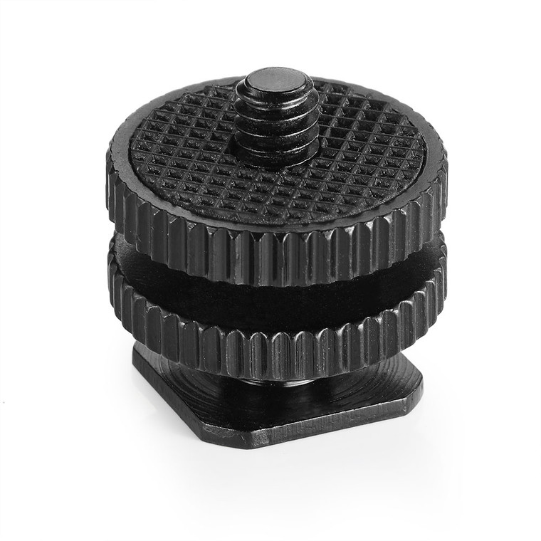 SmallRig Cold Shoe Adapter with 3/8'' to 1/4'' Thread 814