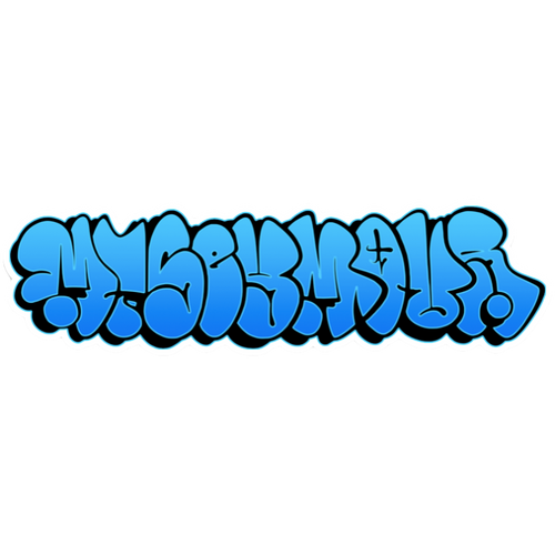 Graffiti Throw up - Mt Seymour Die Cut Sticker - Blue