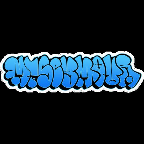 Graffiti Throw up - Mt Seymour Die Cut Sticker - Blue