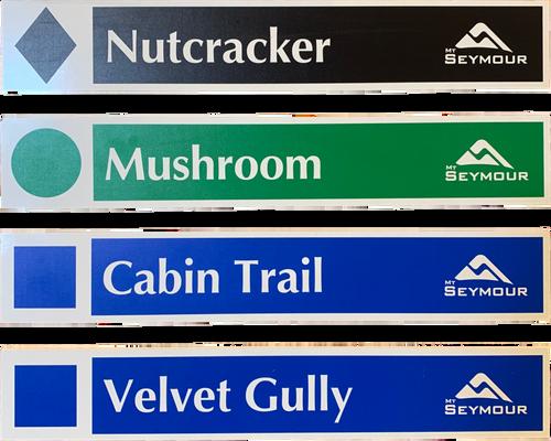 Ski Run Stickers  - Mt Seymour