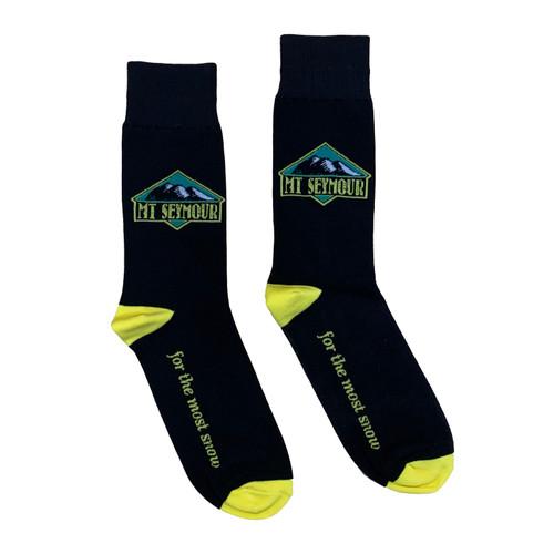 Mt Seymour - Heritage Socks - Black